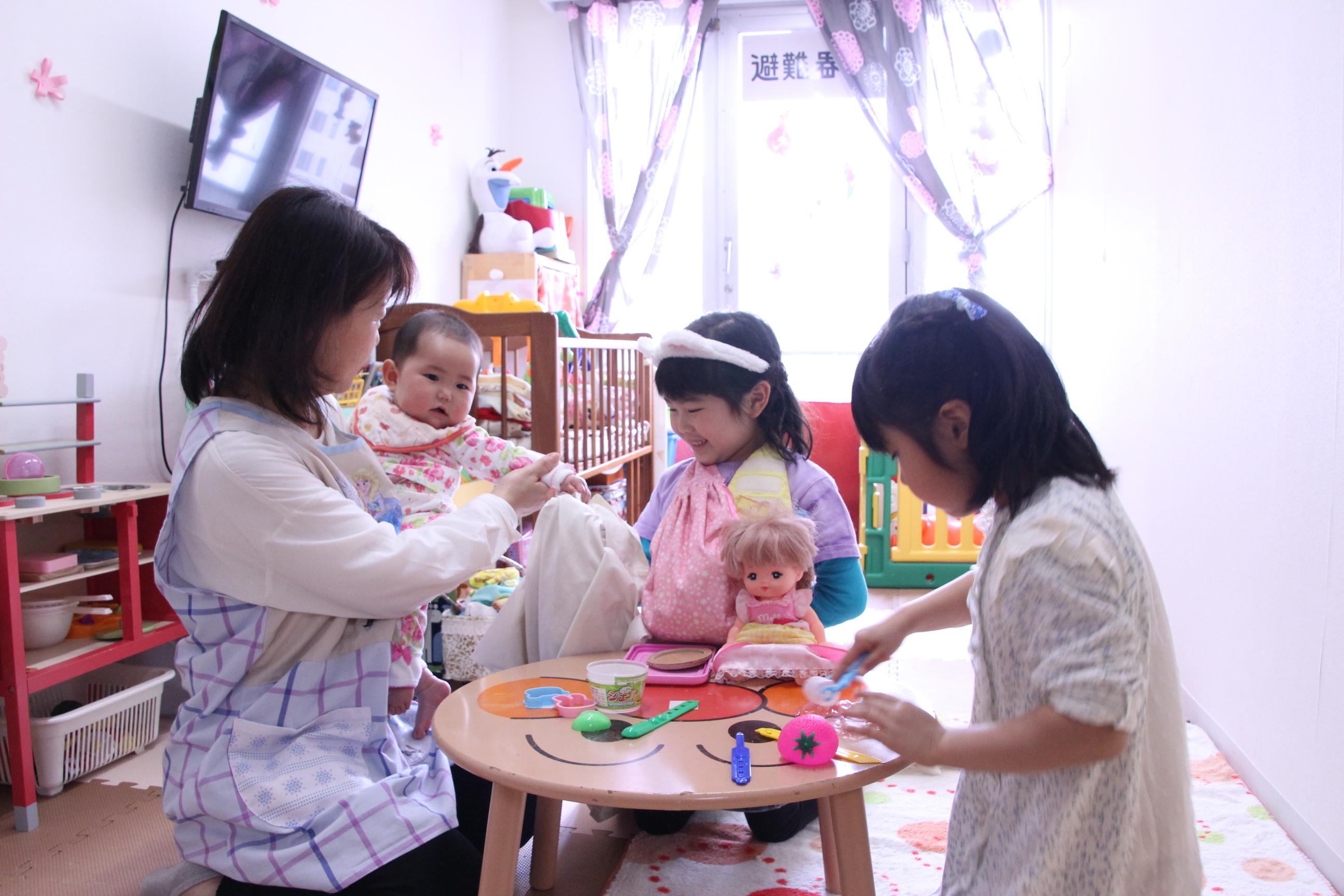 無料の託児所完備のイメージ